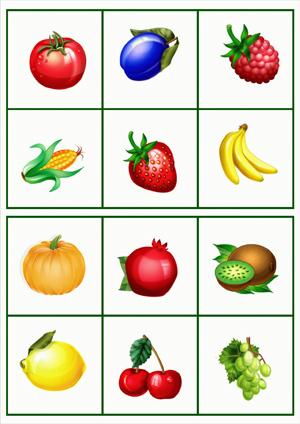 Овощи и фрукты на картинках для детей 1